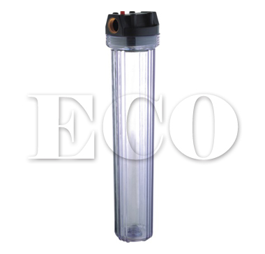 "20"" water filter housing, 20 inch transparent water filter housing"