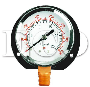 bottom connection pressure gauge