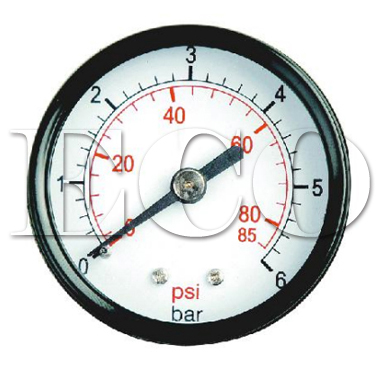 center back connection pressure gauge