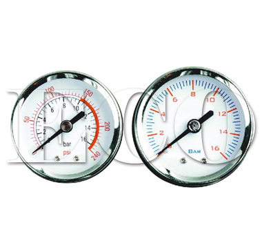 center back pressure gauge